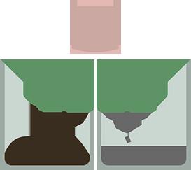 illustration bac à capsules